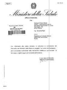 PATROCINIO MINISTERO SALUTE