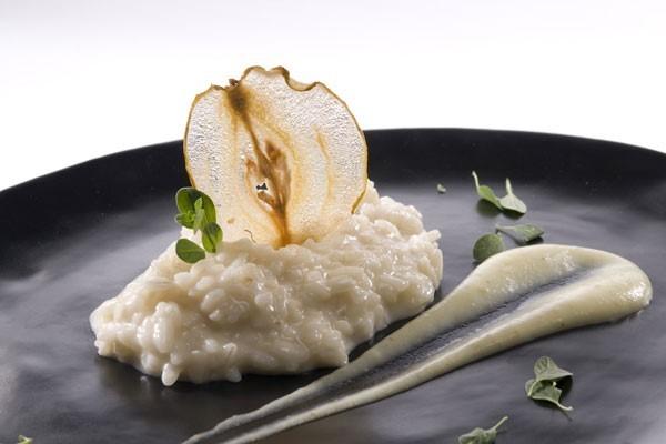 gorgonzola-pears-risotto